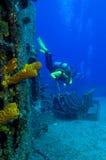Esplorazione del naufragio Fotografie Stock