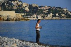 Esplorazione del Riviera francese in Nizza Immagine Stock
