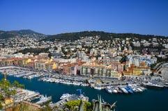 Esplorazione del Riviera francese in Nizza Fotografia Stock