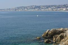 Esplorazione del Riviera francese in Nizza Fotografie Stock