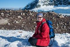 Esplorazione dell'Antartide Immagini Stock Libere da Diritti