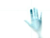 Esplorazione dell'impronta digitale Fotografie Stock Libere da Diritti