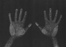 Esplorazione della fotocopia delle mani fotografia stock libera da diritti