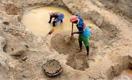 Esplorazione della sabbia Immagini Stock Libere da Diritti