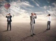 Esplorazione di affari per le nuove opportunità Fotografie Stock Libere da Diritti