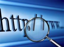 Esplorazione di Web page Fotografia Stock