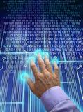 Esplorazione elettronica dell'identificazione Fotografia Stock