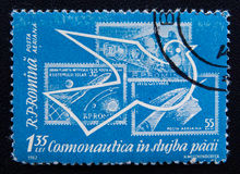 Esplorazione spaziale pacifica, circa 1962 Fotografia Stock Libera da Diritti