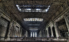 Esplorazione urbana della centrale elettrica Fotografia Stock