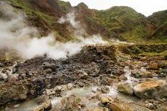 Esplorazioni del Dominica fotografie stock