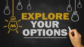 esplori le vostre opzioni immagine stock libera da diritti