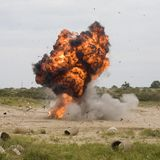Esplosione Immagine Stock Libera da Diritti