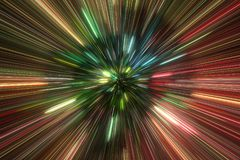 Esplosione ad alta energia delle particelle Immagini Stock Libere da Diritti