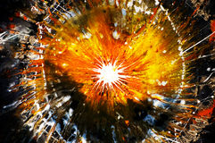 Esplosione astratta Fotografia Stock Libera da Diritti