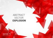 Esplosione astratta del fondo variopinto delle particelle Fotografie Stock Libere da Diritti