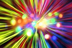 Esplosione astratta delle luci di natale Fotografie Stock Libere da Diritti