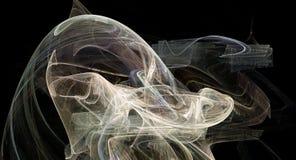 Esplosione astratta luminosa della nebulosa del backgound della supernova Immagine Stock