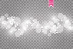 Esplosione bianca astratta di effetto del bokeh con progettazione moderna delle scintille Stella di incandescenza scoppiata o eff illustrazione vettoriale
