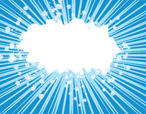 Esplosione blu Immagine Stock