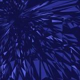 Esplosione blu Fotografia Stock