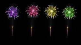 Esplosione colorata dei fuochi d'artificio Fotografie Stock Libere da Diritti