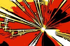 Esplosione comica Fotografia Stock