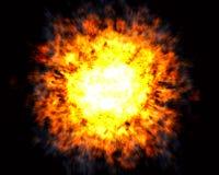 Esplosione con il centro caldo bianco Fotografie Stock