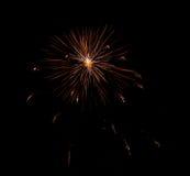 Esplosione dei fuochi d'artificio Fotografia Stock