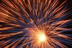 Esplosione dei fuochi d'artificio Fotografie Stock