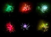 Esplosione dei fuochi d'artificio Immagine Stock