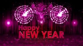 Esplosione dei fuochi d'artificio alla PORPORA della camma della pentola della fase del buon anno royalty illustrazione gratis