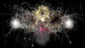 esplosione dei fuochi d'artificio 2016_beautiful stock footage