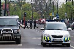 Esplosione del gas di Praga al 29 aprile 2013 Fotografie Stock Libere da Diritti