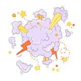 Esplosione del libro di fumetti dell'asta, illustrazione di vettore Fotografia Stock