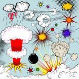 Esplosione del libro di fumetti di vettore Fotografia Stock