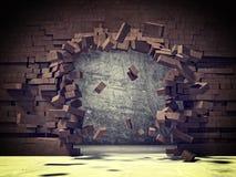 Esplosione del mattone illustrazione di stock