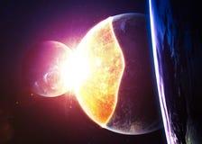 Esplosione del pianeta - apocalisse - conclusione del tempo Immagine Stock Libera da Diritti