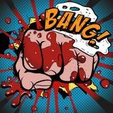 Esplosione del pugno del libro di fumetti Fotografia Stock Libera da Diritti