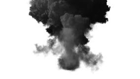 Esplosione della bomba con l'alfa canale illustrazione di stock
