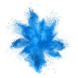 Esplosione della polvere di colore isolata su bianco Fotografia Stock Libera da Diritti