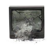 Esplosione della TV Fotografia Stock Libera da Diritti