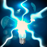 Esplosione delle lampadine Immagine Stock
