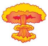 Esplosione di armi atomiche Fotografia Stock
