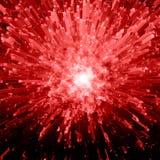Esplosione di cristallo rossa Fotografia Stock