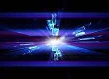 Esplosione di cristallo, scoppio Fotografia Stock
