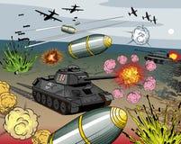 Esplosione di guerra del libro di fumetti royalty illustrazione gratis