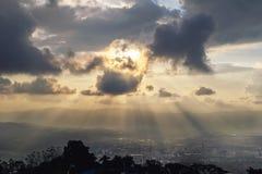 Esplosione di luce solare Immagini Stock Libere da Diritti