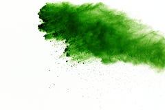 Esplosione di polvere colorata, isolata su fondo bianco Estratto di polvere colorata splatted nuvola di colore fotografia stock