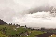 Esplosione di Tungurahua, agosto 2014 Fotografia Stock Libera da Diritti