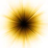 Esplosione dorata di indicatore luminoso. ENV 8 royalty illustrazione gratis